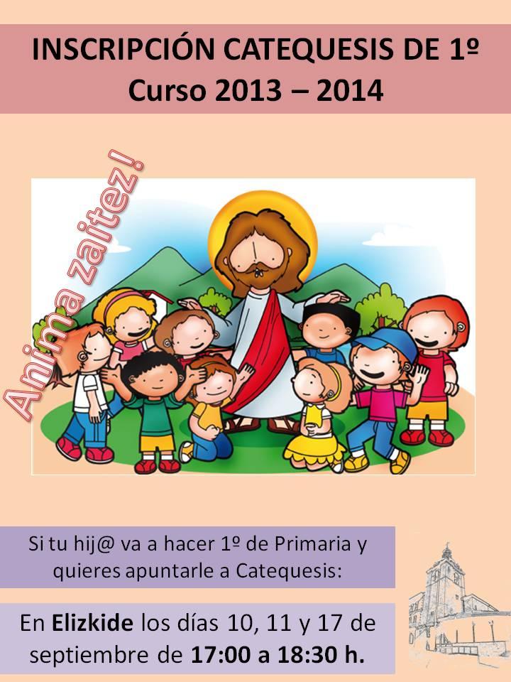 Inscripción Catequesis 13-14