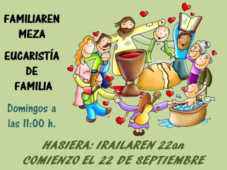 Comienzo misa de familia 2013-14