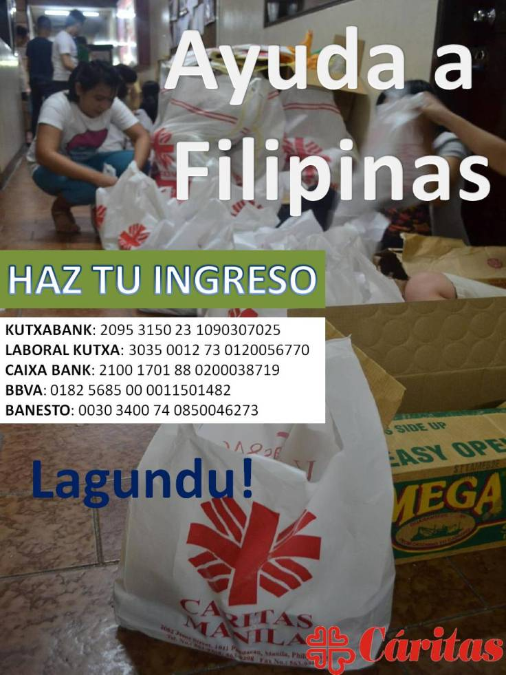 Cartel ayuda Filipinas