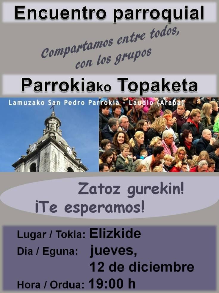 Cartel encuentro parroquial 2013