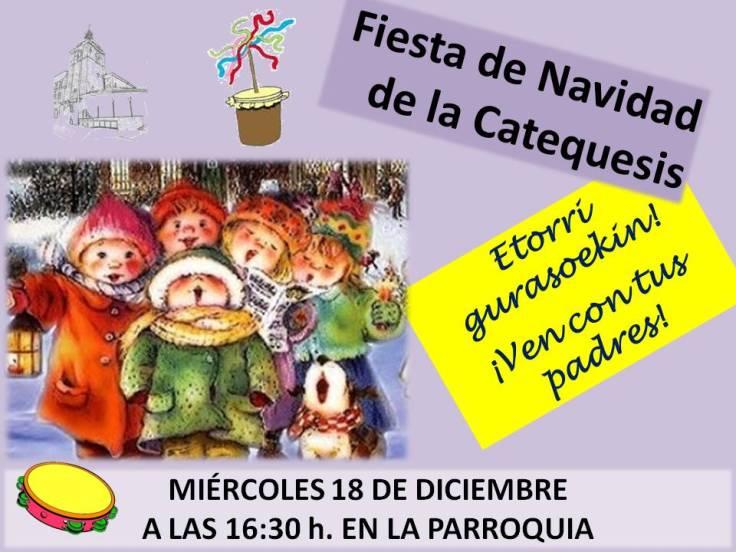 Cartel fiesta de Navidad 2013