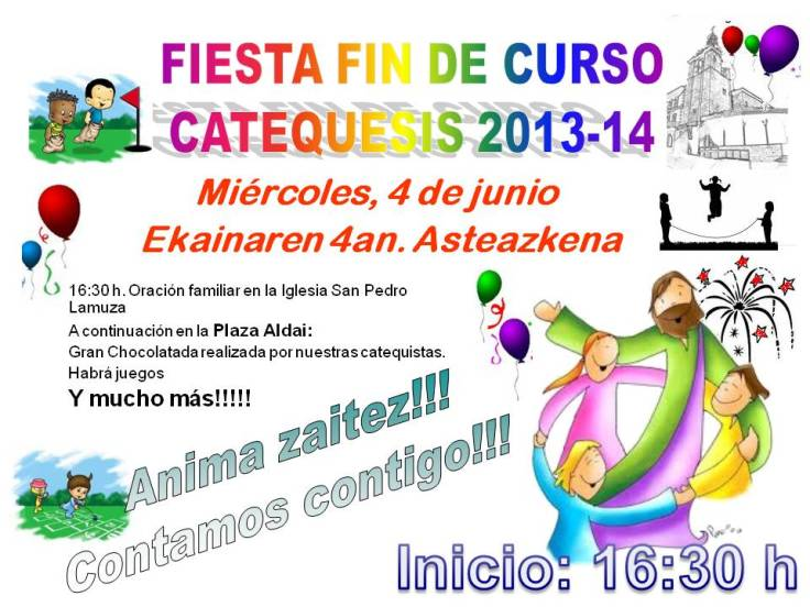 Fin de Catequesis 2014