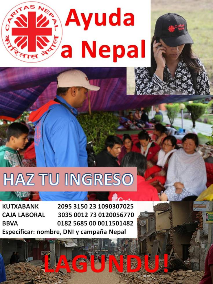 Cartel ayuda Filipinas