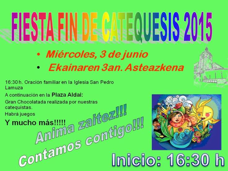 Fin de Catequesis 2015