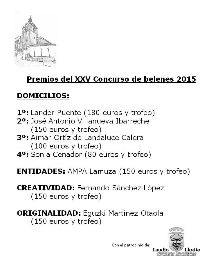 Premios belenes 2015