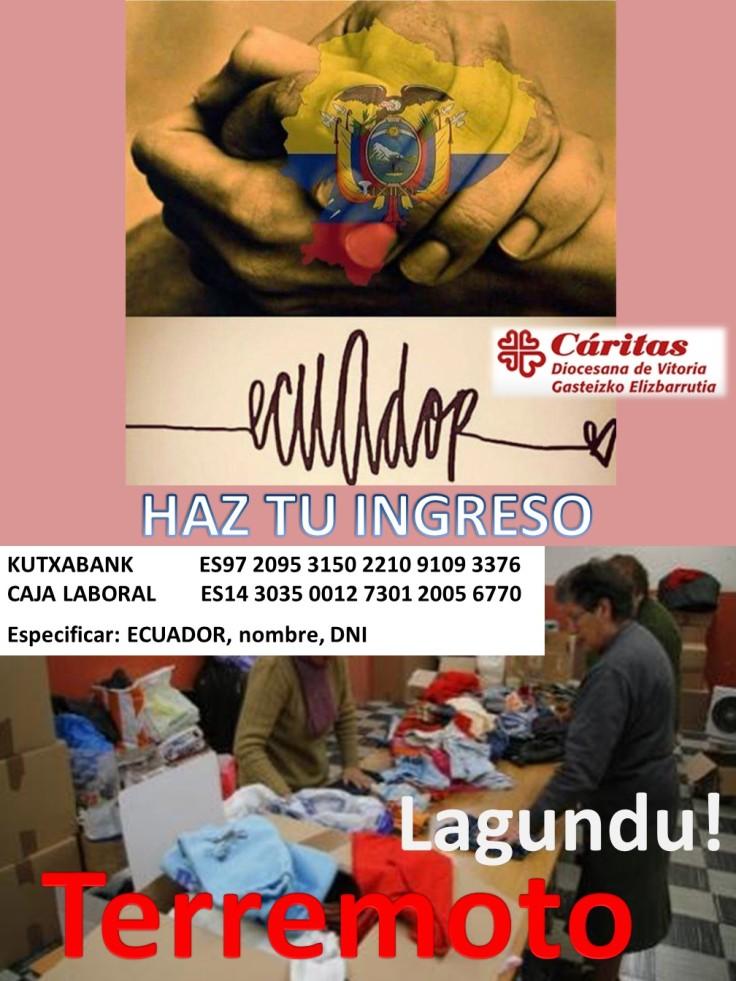Cartel ayuda Ecuador