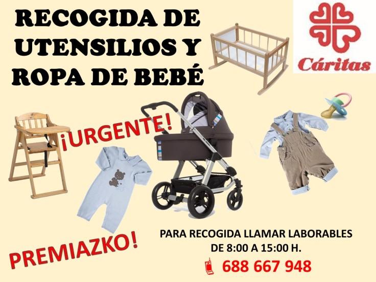 Cartel petición sillas y ropa de niño