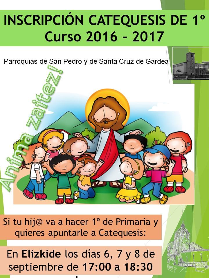 Inscripción Catequesis 16-17